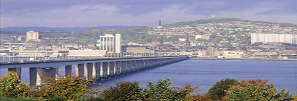View of Dundee from Tay Bridge